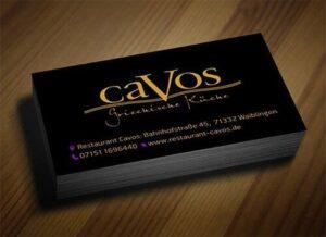 Σχεδιασμός Εαγγελματιής Κάρτας Εστιατορίου