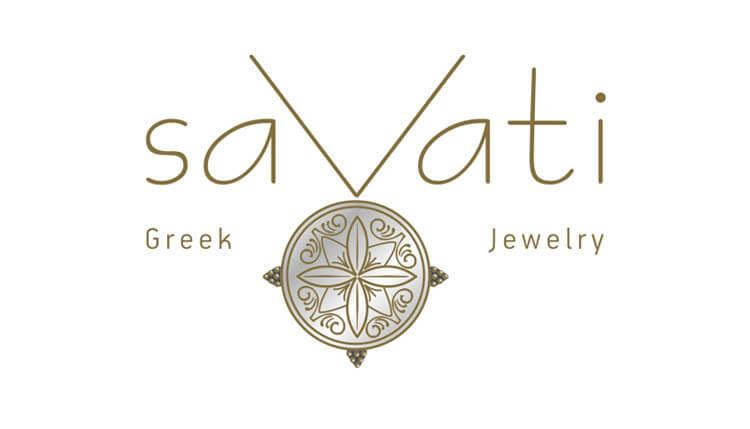 γραφίστας σχεδιασμός λογότυπο Ξενοδοχείου SAVATI ελληνικό κόσμημα