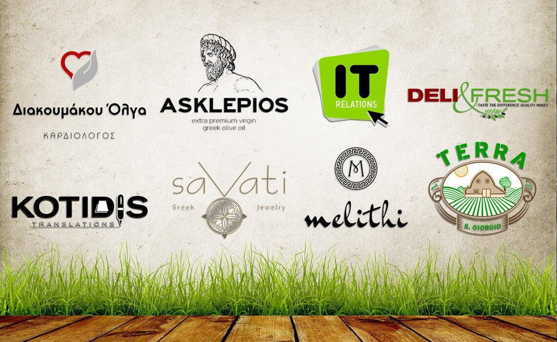 γραφίστας δείγματα σε επαγγελματικά λογότυπα εταιειών