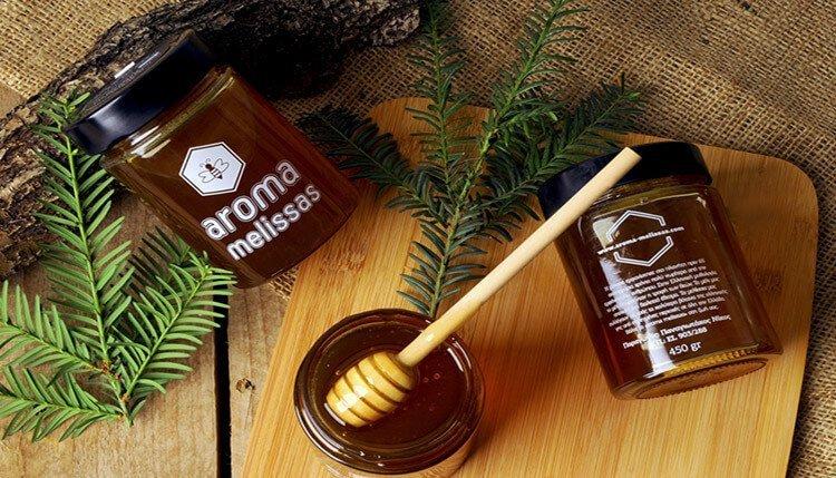 aroma melissas sxediasmos συσκευασίας μελιού