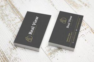 Σχεδιασμός λογοτύπου και επαγγελματικής κάρτα από γραφίστα για REAL ESTATE AGENCY