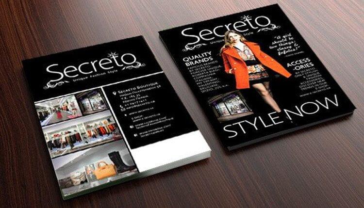 Διαφημιστικό Φυλλάδιο σχεδιασμός από γραφίστα