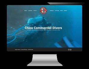 Σχεδιασμός - κατασκευή ιστοσελίδας εταιρεία υποβρυχίων εργασιών / επισκευών σε πλοία από γραφίστα ιστοσελίδων