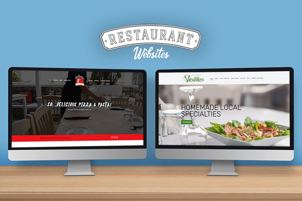 ιστοσελίδα για εστιατόριο από web designer